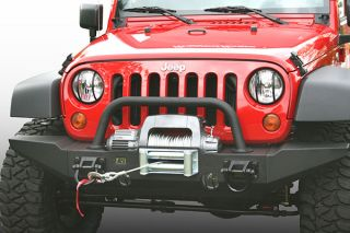 2007 2016 Jeep Wrangler Front Bumpers   Rugged Ridge 11540.71   Rugged Ridge Front XHD Bumpers