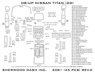 2008, 2009, 2010 Nissan Titan Wood Dash Kits   Sherwood Innovations 2081 CF   Sherwood Innovations Dash Kits