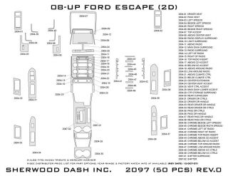 2008 2012 Ford Escape Wood Dash Kits   Sherwood Innovations 2097 N50   Sherwood Innovations Dash Kits