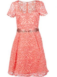 Marchesa Notte Embroidered Floral Dress   Marchesa