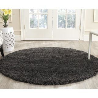 Safavieh Milan Shag Dark Grey Rug (51 Round)   Shopping
