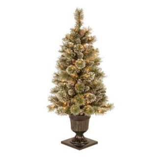 Martha Stewart Living 4 ft. Sparkling Pine Potted Artificial Christmas Tree with 70 Clear Lights GB1 40LO
