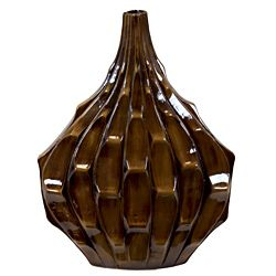 Urban Trends Collection Small Brown Ceramic Vase