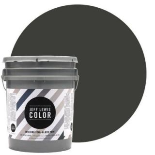 Jeff Lewis Color 5 gal. #JLC113 Mud Semi Gloss Ultra Low VOC Interior Paint 505113