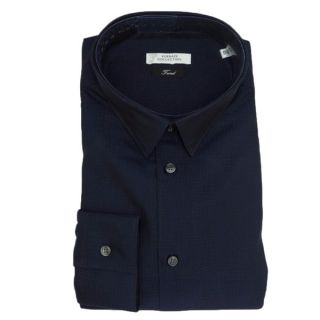 Versace Collection Navy Blue 100 percent Cotton Long Sleeve Shirt