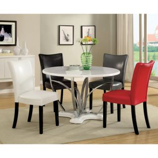 Furniture of America Gale 5 piece Two tone Glass and Cherrywood Dining