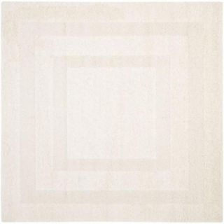 Safavieh Shadow Box Shag Creme 6 ft. 7 in. x 6 ft. 7 in. Square Area Rug SG454 1111 7SQ