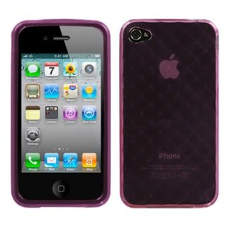 INSTEN Purple Diamond Candy Skin Phone Case Cover for Apple iPhone 4