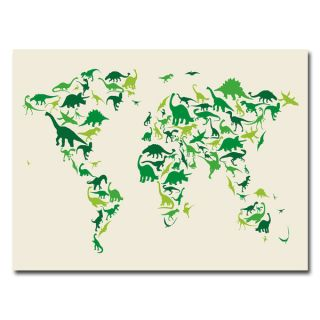 Michael Tompsett Dinosaur World Map Medium Canvas Art   14984143