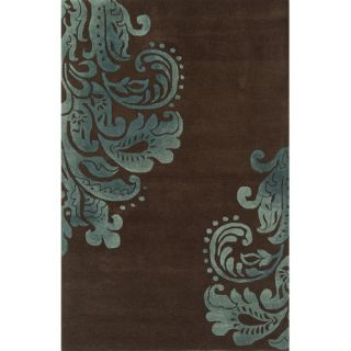 Edge Dark Brown Rug by Continental Rug Company