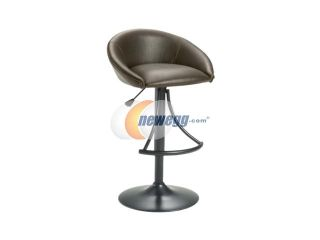 Hillsdale Furniture Oxford Adjustable Swivel Stool with Brown Vinyl  Barstools