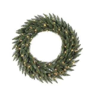 Vickerman Pre Lit 72 in Camdon Fir Artificial Christmas Wreath with 400 Count Incandescent Lights