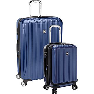 Delsey Helium Aero 2 Piece Hard side 4 Wheel Luggage Set, 19 Carry On and 29