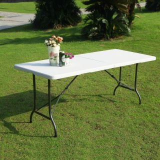 Adeco Rectangle White Folding Table  ™ Shopping   Great