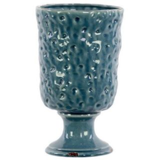 Urban Trends Ceramic Vase SM Hammered Design Gloss Yellow Green