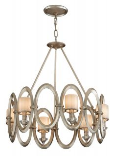 Corbett Lighting 134 46 Satin Silver Leaf Pendant Light