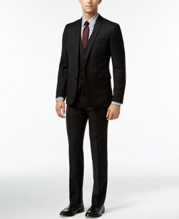 Bar III Black Solid Extra Slim Fit Suit Separates   Suits & Suit