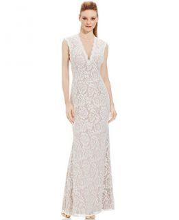 Betsy & Adam Embellished Lace Gown   Dresses   Women