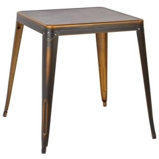 Work Smart Bristow Antique Copper Metal Accent Table BRW432 AC