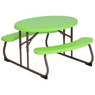 Lifetime Childrens Oval Picnic Table (Green)