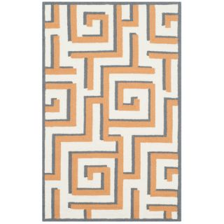 Four Seasons Ivory/Brown Area Rug by Wade Logan