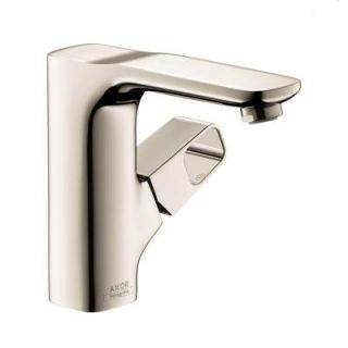 Hansgrohe Axor Urquiola Single Hole 1 Handle Bathroom Faucet in Polished Nickel 11020831