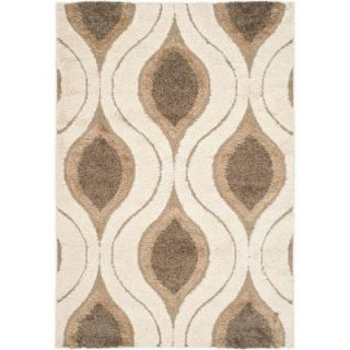 Safavieh Florida Shag Cream/Smoke 9 ft. 6 in. x 13 ft. Area Rug SG461 1179 10