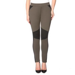 Miss Tina Womens Moto Inspired Skinny Knit Ponte Pants