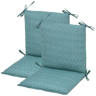 Hampton Bay Rhodes Trellis Mid Back Outdoor Chair Cushion (2 Pack) DISCONTINUED 7410 02220000