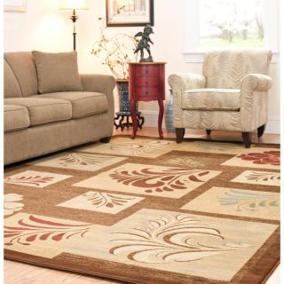 Safavieh Lyndhurst Floral Panels Brown Rug (67 x 96)