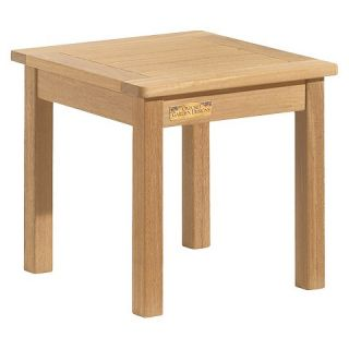 Oxford Garden Classic Square End Table   Natural Shorea