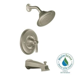 MOEN Rothbury Posi Temp Single Handle 1 Spray Tub and Shower Faucet Trim Kit in Brushed Nickel (Valve Sold Separately) TS2213EPBN