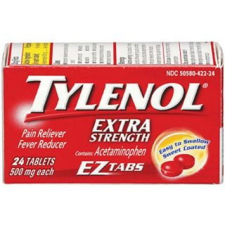 Tylenol EZ Tabs Extra Strength Pain Reliever/Fever Reducer, 24 Ct