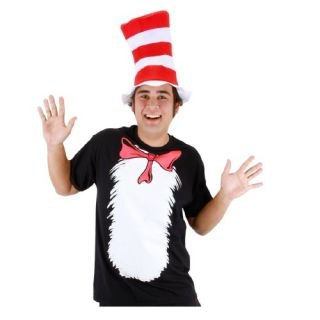 Elope Costumes Mens Cat in the Hat T Shirt and Hat Adult Costume Medium Black