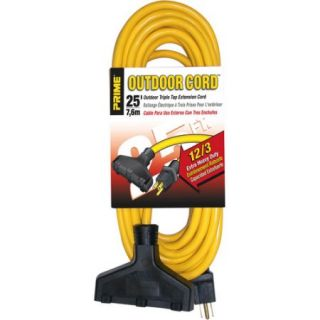 Prime Extra Heavy Duty 25 Foot Outdoor Generator Extension Cord 3 Conductor