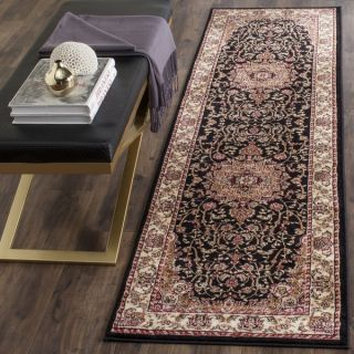 Safavieh Lyndhurst Collection Traditional Black/ Ivory Runner (23 x 6