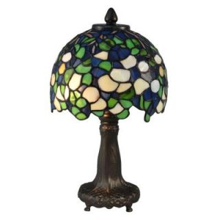 Radionic Hi Tech Talon 13.75 in. Dark Bronze Hand Rolled Art Glass Table Lamp DT_TL_TA14350_RHT