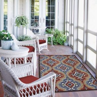 Mohawk Home Mystic Ikat Indoor/Outdoor Nylon Rug, Multi Colored