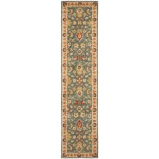 Safavieh Antiquity Blue/Beige 2 ft. 3 in. x 10 ft. Runner AT15A 210