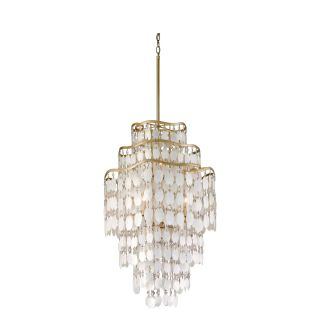 Corbett Lighting 109 47 Dolce 7 Light Hanging Pendant in Champagne Leaf