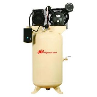 Ingersoll Rand Type 30 Reciprocating 80 Gal. 7.5 HP Electric 230 Volt, Single Phase Air Compressor 2475N7.5 V