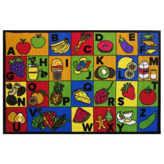 Fun Rugs FT 145 3958 Fun Time ABC Food Area Rug in Multi Color