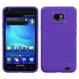 INSTEN Solid Purple Candy Skin Phone Case Cover for Samsung Galaxy S2