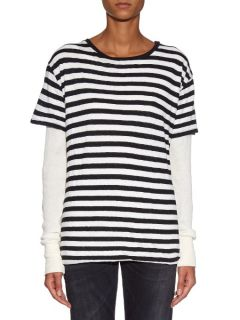 Double layer striped top  R13 US