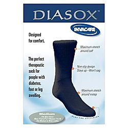 Invacare Diasox Diabetic Socks. Men Size 6 12 9Women Size 7 10 Black