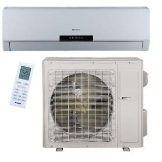 GREE Premium Efficiency 30,000 BTU (2.5Ton) Ductless (Duct Free) Mini Split Air Conditioner   Inverter, Heat, Remote 208 230V NEO30HP230V1A