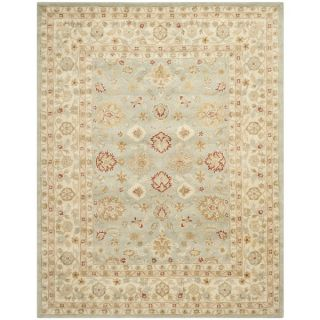 Safavieh Handmade Antiquity Blue grey/ Beige Wool Rug (76 x 96