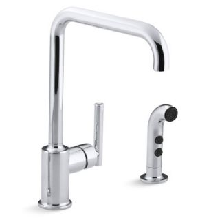 Kohler Purist Two Hole Kitchen Sink Faucet with 8 Spout and Matching