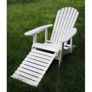 Eagle One Commercial grade Greenwood Adirondack Chair with Pull out