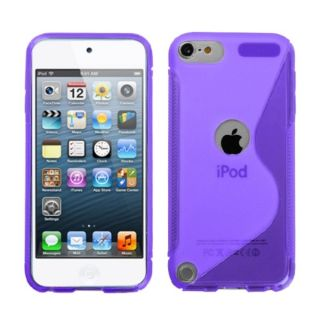 Insten Purple Clear Argyle TPU Rubber Candy Skin Glossy Case Cover For